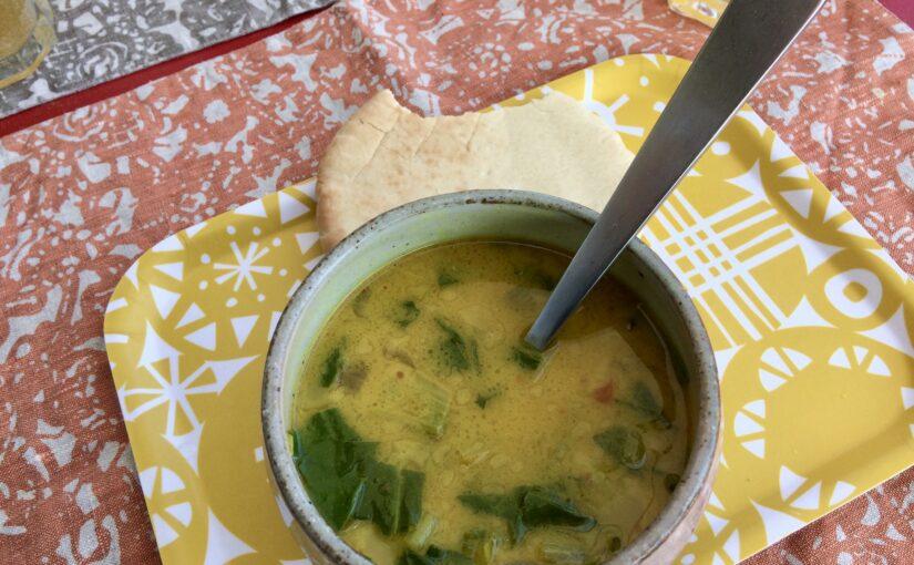 Krautstiel-Curry-Suppe